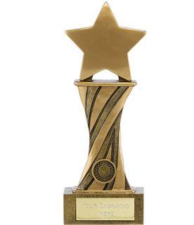 "Showcase Antique Gold Resin Star Award 23cm (9"")"