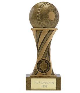 "Showcase Antique Gold Resin Lawn Bowls Award 18cm (7"")"
