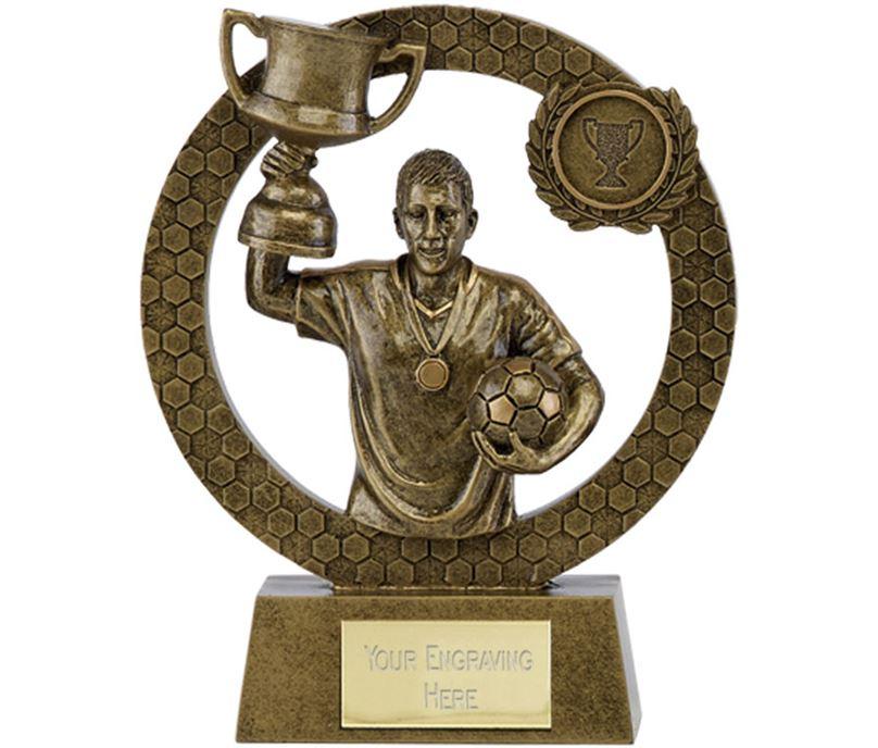 """Nova Footballer with Cup Award 12.5cm (5"""")"""