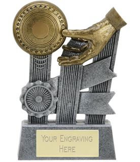 """Ribbon Lawn Bowls Trophy 12.5cm (5"""")"""