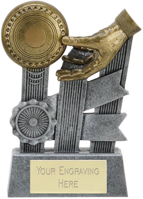 """Ribbon Lawn Bowls Trophy 16cm (6.25"""")"""