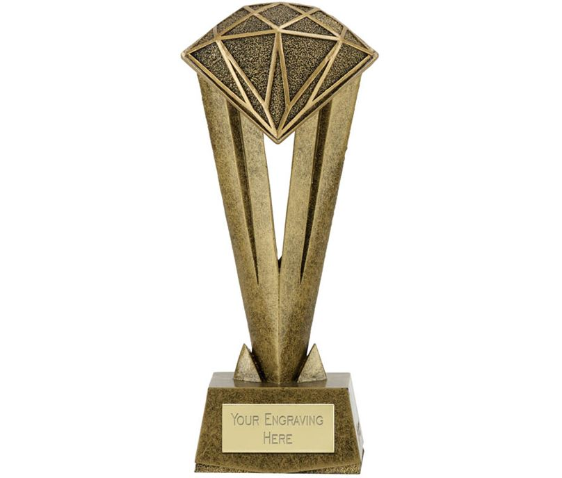 "Cherish Diamond Trophy 17cm (6.75"")"