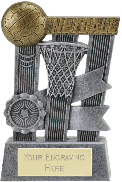 "Ribbon Netball Trophy 16cm (6.25"")"