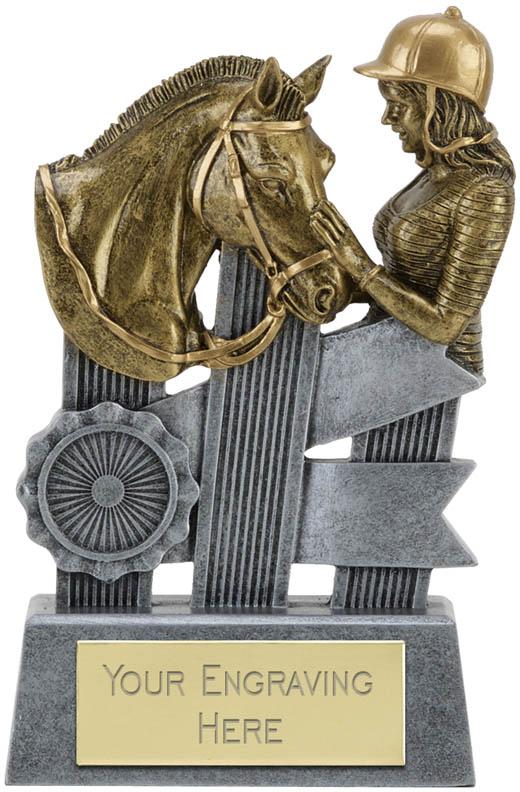 """Ribbon Equestrian Trophy 9.5cm (3.75"""")"""