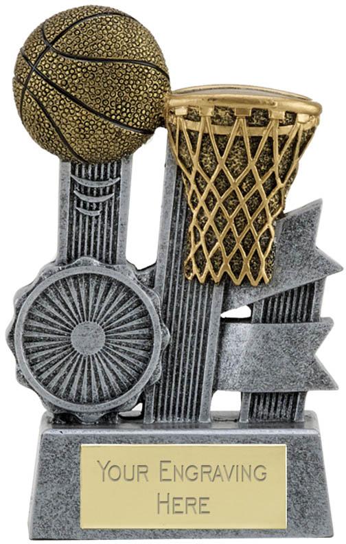 "Ribbon Basketball Trophy 9.5cm (3.75"")"