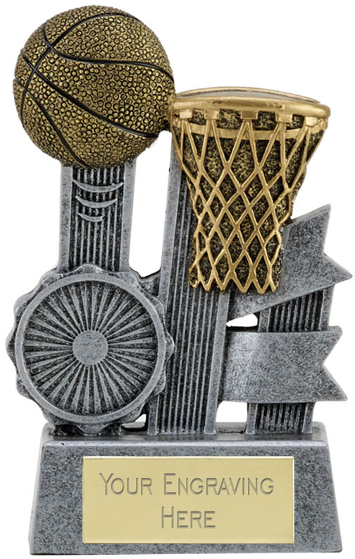 "Ribbon Basketball Trophy 9.5cm (3.75"")"