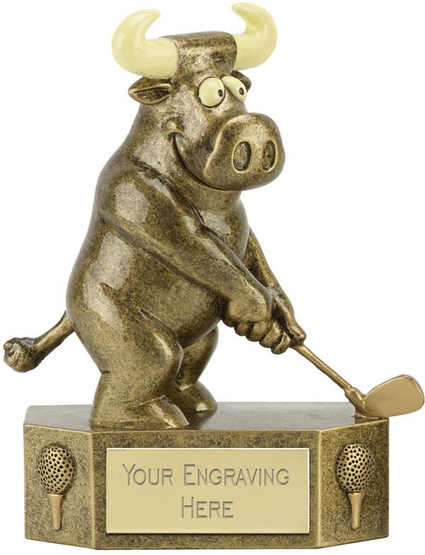 "Prize Bull Golfer Trophy 12.5cm (5"")"