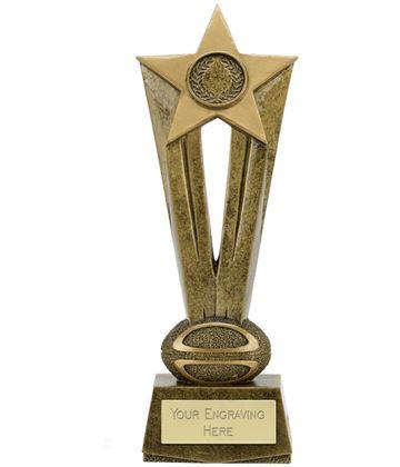 """Cherish Star Rugby Trophy 22cm (8.75"""")"""