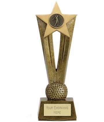 "Cherish Star Golf Trophy 22cm (8.75"")"
