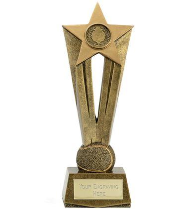 "Cherish Star Tennis Trophy 22cm (8.75"")"