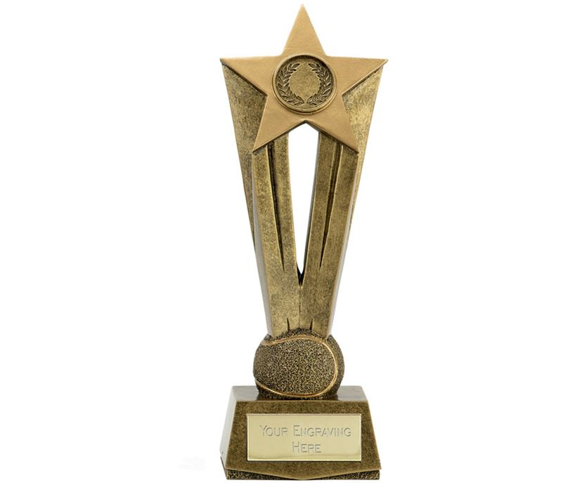 "Cherish Star Tennis Trophy 22cm (8.75"")"