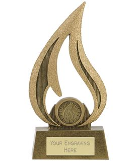 "Faith Cut Out Flame Award 16cm (6.25"")"