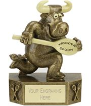 "Prize Bull Wooden Spoon Trophy 12.5cm (5"")"