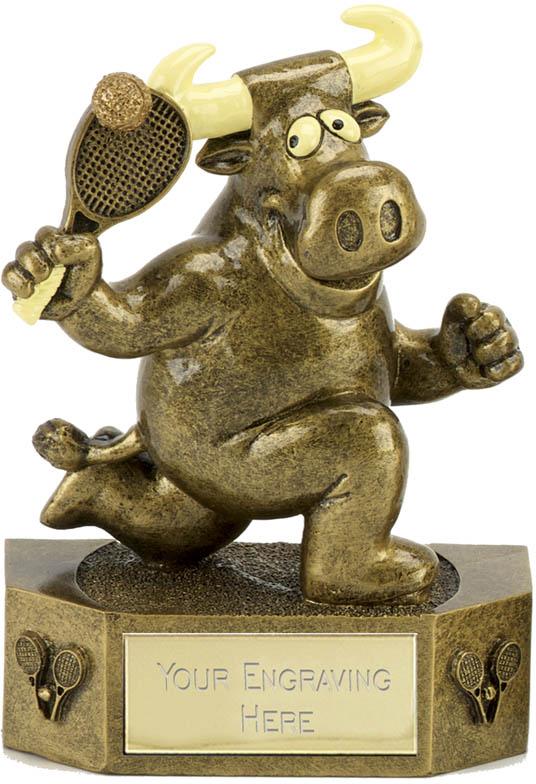 "Prize Bull Tennis Trophy 12.5cm (5"")"
