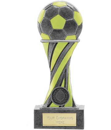 "Glow in the Dark Antique Silver Football Trophy 18cm (7"")"