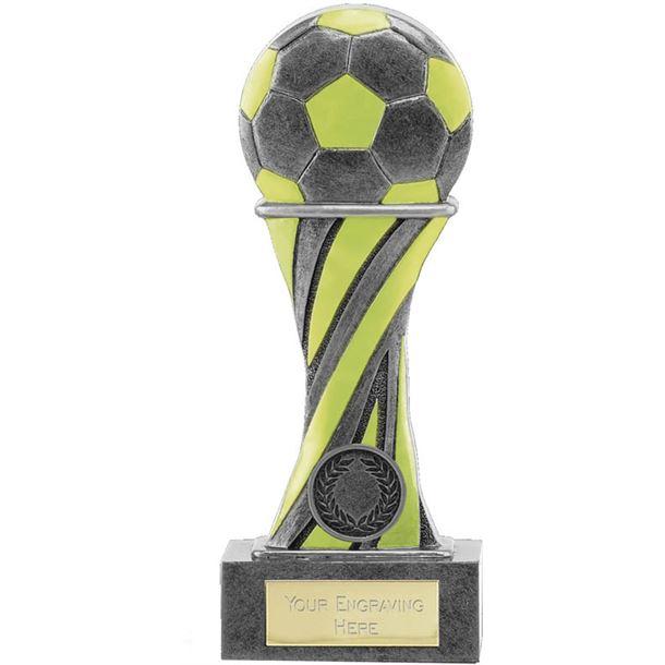 "Glow in the Dark Antique Silver Football Trophy 18cm (7"")"