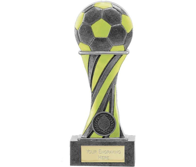 "Glow in the Dark Antique Silver Football Trophy 19.5cm (7.75"")"