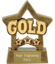"Gold Mini Star Award 8cm (3.25"")"