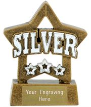 "Silver Mini Star Award 8cm (3.25"")"