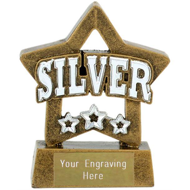 "Silver Mini Star Award 8cm (3.25"")"