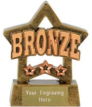 "Bronze Mini Star Award 8cm (3.25"")"