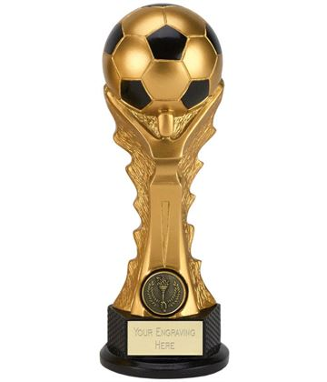 "3D Football Celebration Tower Trophy 20cm (8"")"
