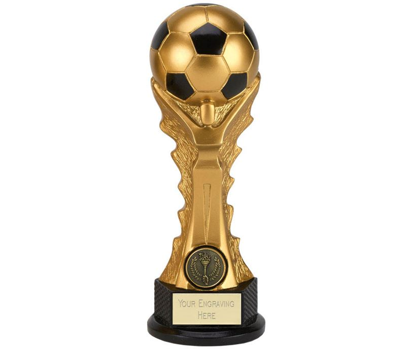 "3D Football Celebration Tower Trophy 23cm (9"")"