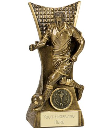 "Action Football Antique Gold Conqueror Award 16cm (6.25"")"