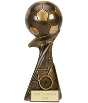 "3D Ball On Net Column Curl Football Award 20cm (8"")"