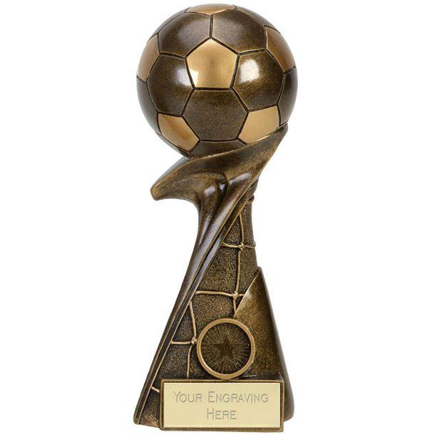 """3D Ball On Net Column Curl Football Award 23cm (9"""")"""