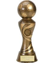 "Antique Gold 3D Football On Ace Spiral Column Trophy 20cm (8"")"