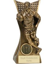 """Rugby Action Player Conqueror Trophy Antique Gold 14cm (5.5"""")"""