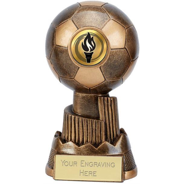 "Apex Football Trophy Antique Gold 13cm (5.25"")"