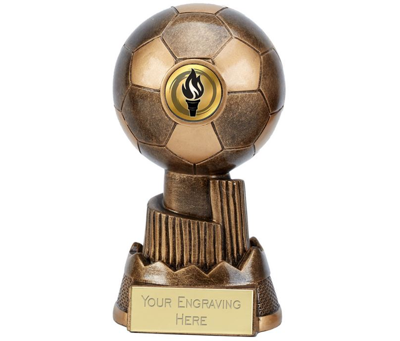 "Apex Football Trophy Antique Gold 15cm (6"")"