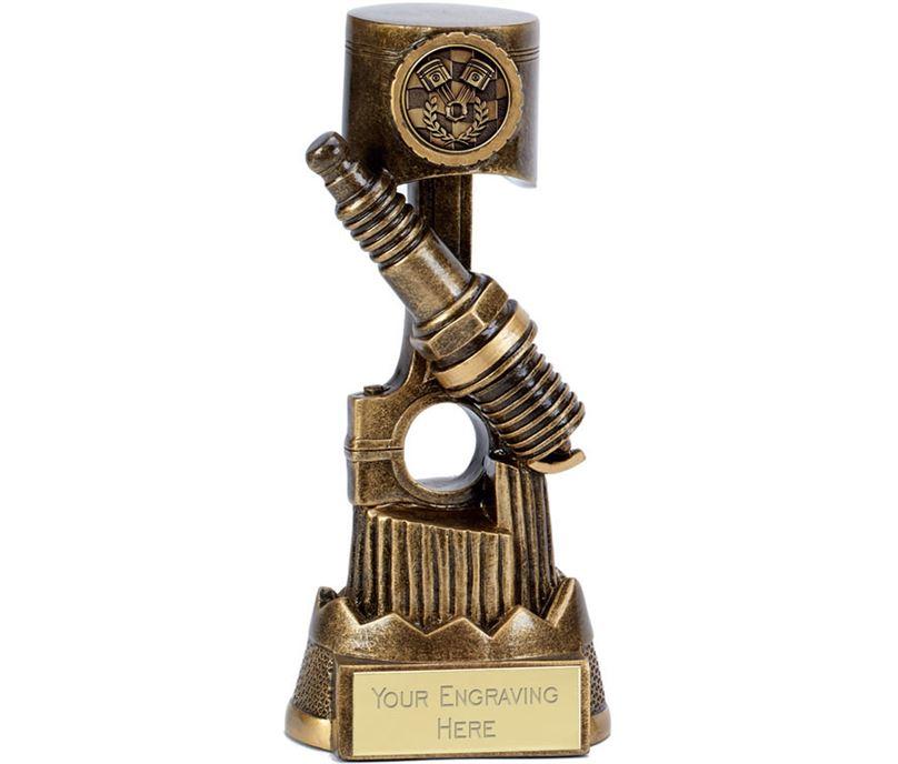 """Apex Piston Trophy Antique Gold 17.5cm (6.75"""")"""