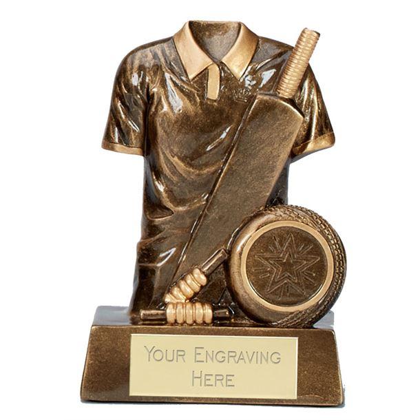 """Legend Cricket Trophy Antique Gold 12.5cm (5"""")"""