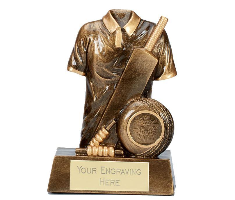 """Legend Cricket Trophy Antique Gold 15cm (6"""")"""