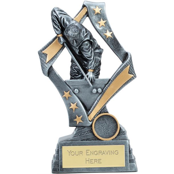 """Flag Snooker Trophy Silver 13cm (5.25"""")"""