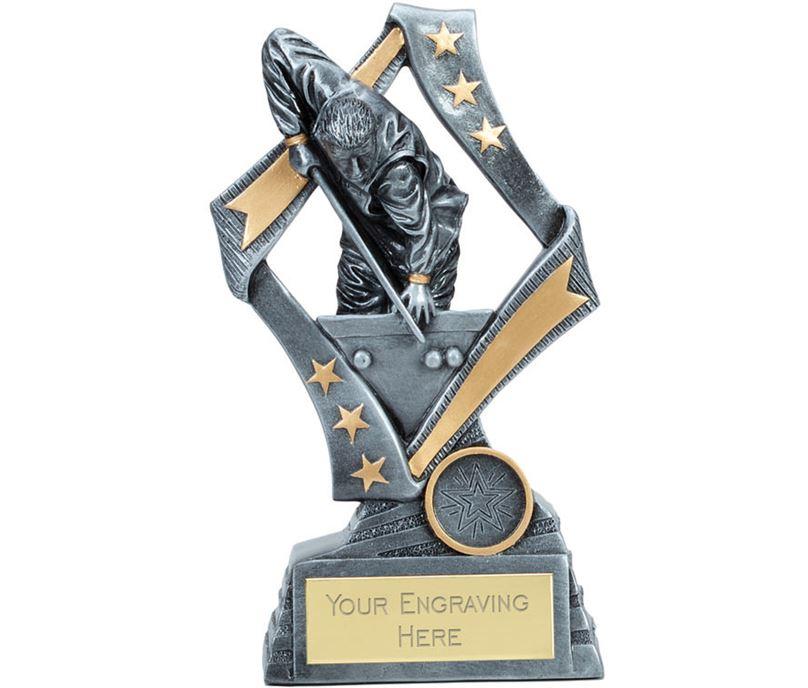 """Flag Snooker Trophy Silver 19cm (7.5"""")"""