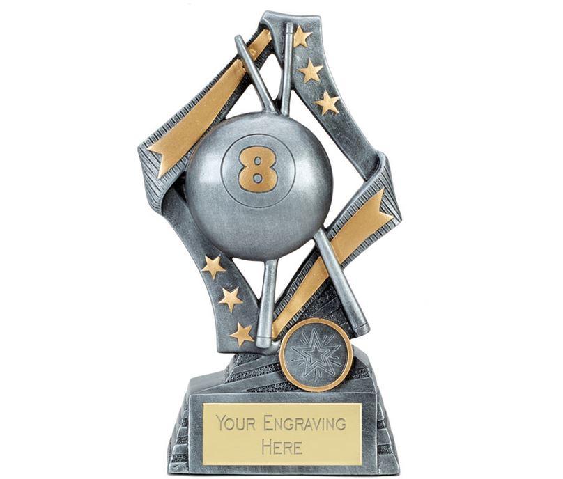"""Flag Pool Trophy Silver 19cm (7.5"""")"""