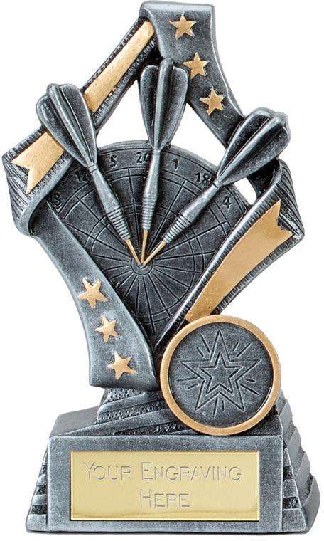 Flag Darts Trophy Free Engraving