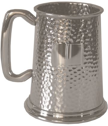 "Full Hammered 1pt Sheffield Pewter Tankard 12.5cm (5"")"