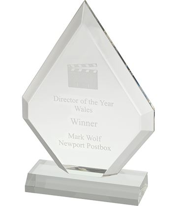 """Plain Clear Pointed Acrylic Award 20.5cm (8"""")"""