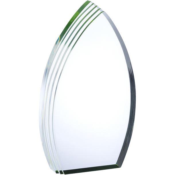 "Arch Acrylic Award With Green Effect 23cm (9"")"