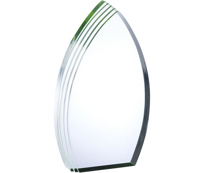 "Arch Acrylic Award With Green Effect 23cm (9"")"