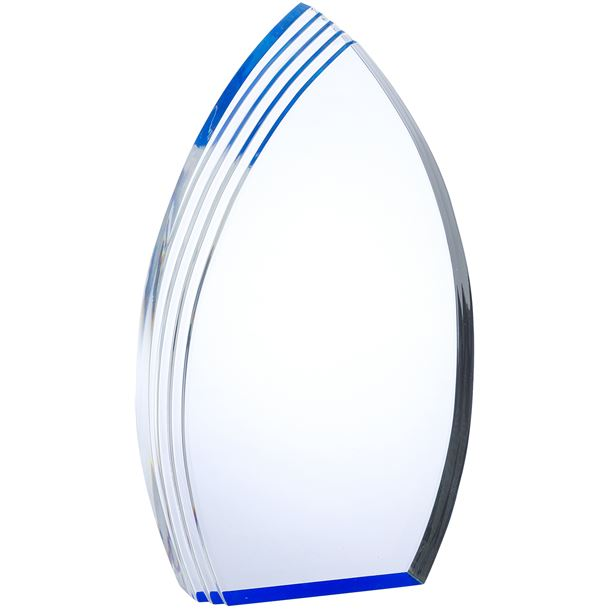 "Arch Acrylic Award With Blue Effect 23cm (9"")"