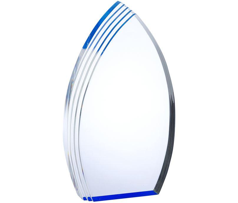 "Arch Acrylic Award With Blue Effect 23cm (9"")"