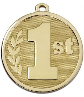 """Gold Galaxy 1st Place Medal 45mm (1.75"""")"""