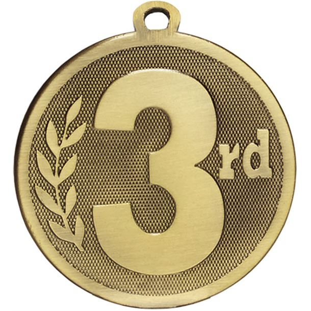 """Bronze Galaxy 3rd Place Medal 45mm (1.75"""")"""