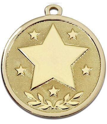 "Gold Galaxy Stars Medal 45mm (1.75"")"